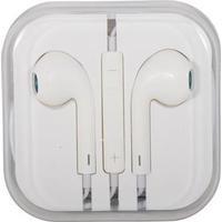 Høretelefon - In-ear Hovedtelefon - udstyret med mikrofon - Hvid