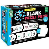 Staples Write-On/Wipe-Off: 52 Blank Puzzle Pieces