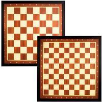 Abbey Game schack- och dambräde med brun ram 49CD