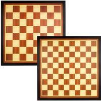 Abbey Game checkers/schackbräde med brun och ecru ram 49CG