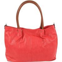 Maestro Surprise Cityshopper Handtasche Bag in Bag 45 cm rot/cognac