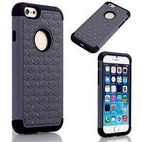 Bling Diamond Cover - til iPhone 6 / 6S (sort-grå)