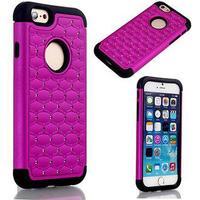 Bling Diamond Cover - til iPhone 6 / 6S (sort-lilla)