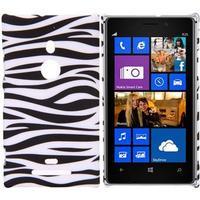 Motiv Plastik Cover Lumia 925 (Zebra)