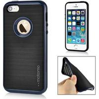 Motomo smart silikonecover til iPhone 5/5S/SE - Blå