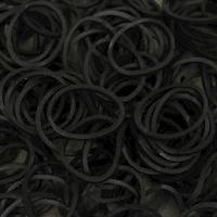 Gemmas Sorte loom bands, pose med 600 stk.