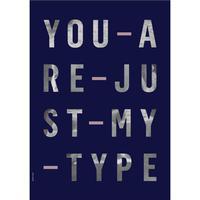 I Love My Type Just My Type Navy Plakat