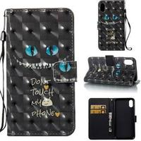 Star Light Etui med kortholder til iPhone X - Cat Eyes