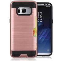 Cool slide Cover i TPU og plast til Samsung Galaxy S8 - Rosa Guld