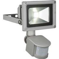"""GLOBO udendørs LED-væglampe med sensor """"PROJECTEUR"""" aluminium grå 34114S"""