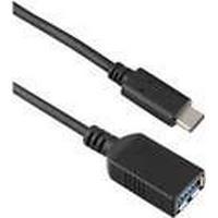 Targus - USB-förlängningskabel - USB-C (hane) till USB typ A (hona) - USB 3.1 Gen 1 - 3 A - 15 cm - reversibel C-kontakt, stöd för 4K - svart