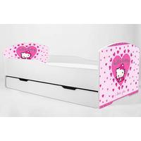 KOBI Barnsäng - Luk med madrass - Hello Kitty - 160 x 80 Cm