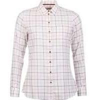Barbour Triplebar Shirt, Aster Pink, 10