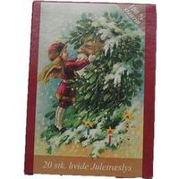 Nostalgisk - Juletræs Stearinlys 100% ren stearin - Rød