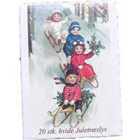 Nostalgisk - Juletræs Stearinlys 100% ren stearin - Hvid