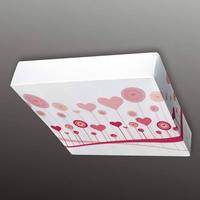 Hjertemotiv - tekstilloftslampen Flo, 60 cm