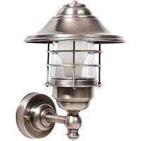 MORETTI Celia udendørs væglampe, sølv - saltvandsresistent
