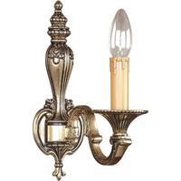 Klassisk væglampe Tamesis - finish i antikguld