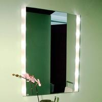 Top Light Firkantet vægspejl BRIGHTLIGHT, belyst
