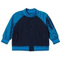 Little Marc Jacobs Navy and Blue Retro Logo Varsity Jacket 8 years