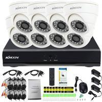 KKmoon 8ch Kanal voll 960H / D1 800TVL CCTV-Überwachung DVR Sicherheitssystem P2P Wolke Onvif Netzwerk Digital Video Recorder + 8 * Innen Kamera + 8 * 60ft Kabel