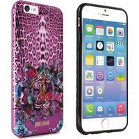 Just Cavalli Antishock iPhone 6 / 6s Cover Case Leo Tiger Garden Pink