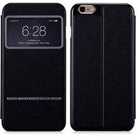 iPhone 6 Plus / 6s Plus MOMAX View Slide Answer Leather Etui Sort