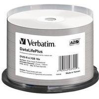 Verbatim DVD-R 16x DataLifePlus Wide Inkjet Professional 50pk Spindle