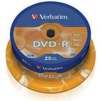 Verbatim DVD-R 16x Matt Silver 25 Pack Spindle
