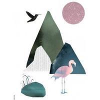 I LOVE MY TYPE, Flamingo - White, A5, 4 på lager