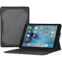 Zagg Rugged Messenger Tangentbord iPad 2017 Svart, Grå