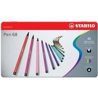 Stabilo - Pen 68 - Metalæske med 40 Tusser