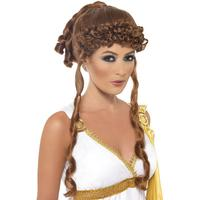 Smiffys Helen of Troy Wig Brown