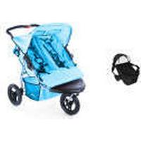 Crown TT 14 2.0 Double Pram 3 Wheels + Carrycot blue - Collection 2018