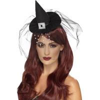 Smiffys Gothic Mini Witch Hat
