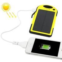 Solcellsladdare 5000mAh  iPhone / Samsung Galaxy / Sony / HTC / LG
