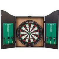 My Hood dartskab - Dart Home Center Inkl. 6 pile - Vendbar skive med Target Game på den anden side