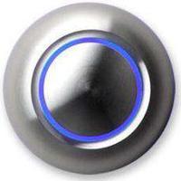 Spore True LED-belyst dörrklockans tryckknapp aluminium/blå