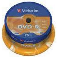 Verbatim DVD-R Rohlinge 4.7 GB 16x mattes Silber 25er (43522)
