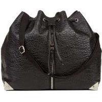 FRIIS & COMPANY: Metal Vika Bucket Bag Black