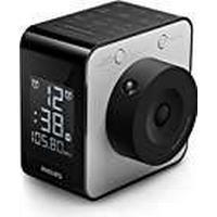 Philips AJ4800/12Radio Alarm Clock with Time Projection (Digital FM tuner, 2Alarms Black