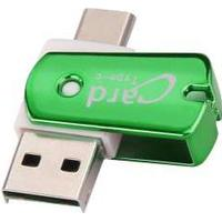 USB 3.1 USB-C til Micro kort læser adapter. Grøn