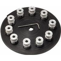CNC 10M 2GT Timing Belt 20 Teeth GT2 Aluminium Pulley For 3D Printer CNC RepRap