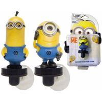 Joy Toy 90227 - Minions Figuren auf Saugnapf (drehbar) für das Fenster, Auto, PC etc. 9 cm - 3 versc