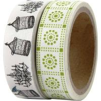 Tejp Washi 15 mm x 5 m 2 st
