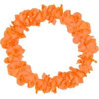 Folat Hawaii Lei Neon Orange Floral