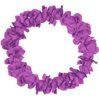 Folat Hawaii Lei Neon Purple Floral