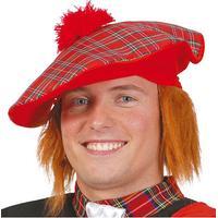 Fiestas Guirca Skotsk Hatt med Hår - One size