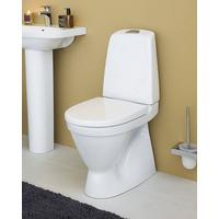 Toalettstol Nautic 1500 dolt s-lås, Hygienic Flush Dubbelspolning 2/4L, Soft Close/Quick Release sits, limvariant, Ceramicplus