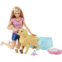 Barbie Nyfödda valpar och docka FBN17